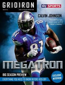 Free sample of the UK's biggest monthly NFL magazine
