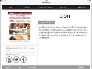 Lion New film free tickets