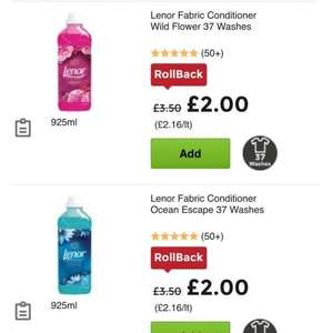 Lenor fabric conditioner and scent 37 wash £1.50 at asda