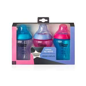 Tomme tippee baby bottles @superdrug for £7.72