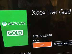 Xbox Live Gold 12 Month - 40% off - New and expired members