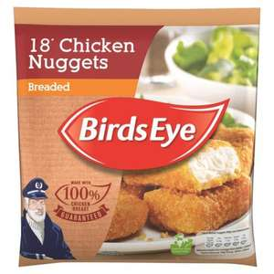 18 Birds Eye Chicken Nuggets (breaded) 2 packs for £2 (or £1.25 each) at Heron Foods