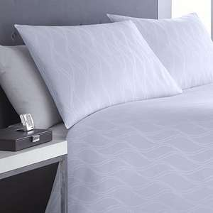 Mason Grey Waves white duvet cover set King size 100% cotton 300 Thread Count £24 @ Tesco Direct / Cleverboxes