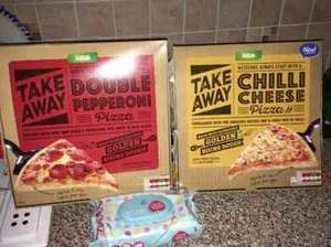 Asda's TAKE AWAY FROZEN PIZZA £1 reduced to clear was £1.87