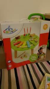 Wooden activity table (RRP £40) - £10 instore @ Tesco