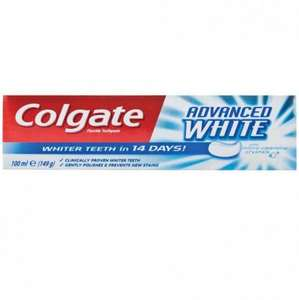 Colgate 100ml Max Cavity Protection , Advanced White & Max White Toothpaste now 50p @ poundstrecher
