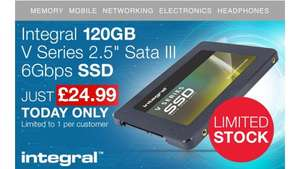 """Integral 120GB V Series 2.5"""" Sata III 6Gbps SSD (Limited Stock & Today Only) - £24.99 @ MyMemory"""