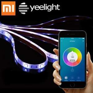 Original Xiaomi Yeelight Smart Wi-Fi Light Strip with IFTTT £23.24 (Using code) OR  HML 2x 5m rgb strip kit with remote £8.81 @ Gearbest