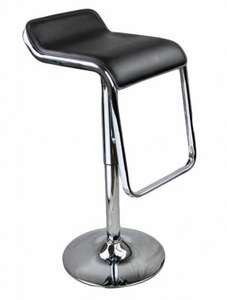 2 x Chrome Kitchen Bar Stool Barstools PU Swivel Stools £36.99 @ uhsonline / ebay