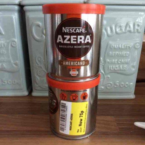 Nescafé Azera Americano 60g reduced to 75p at Morrisons in store.