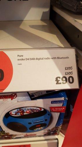 Pure evoke D4 DAB radio £90 sainsbury's