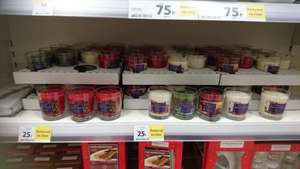 Tesco Christmas candles 25p instore 30hrs burning time