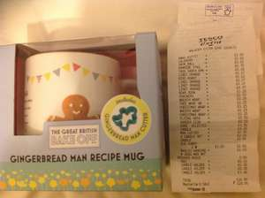 The Great British Bake Off Gingerbread Man Recipe Mug 50p in store at Tesco - Walkden