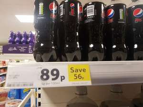 Pepsi Max 1.5 Litre 89p instore @Tesco