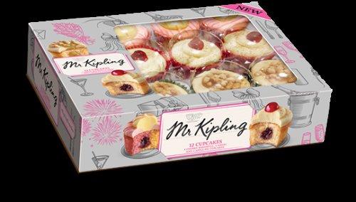 Mr Kipling cupcakes  variety x12 in a box £2.49 at heron Warrington