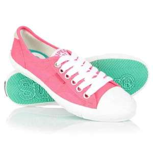 superdry lol pro Fluro pink trainer superdry store eBay outlet and free delivery!! £6.49 all in!!