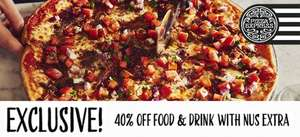 Wait a Minute, Pizza Express 40% off  Food and Drink with Nus Extra