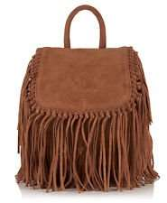 Womens Superdry Premium Suede Neo Nomad Fringed Backpack in Black or Tan now £21.99 Del @ Ebay Superdry