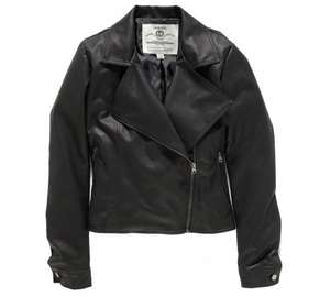 Women's Black Faux Leather Jacket (was £30) now just £6.00 at Argos
