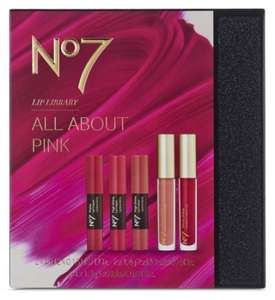 No.7 Lip Library back in stock for £8 half price @ Boots