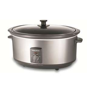 Morphy Richards Oval Stainless Steel Slow Cooker 6-5L  £25.50 with 50% off then 15% off