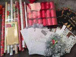 All Christmas Stock Reduced to 10p Crackers, Wrapping Paper, Tinsel,Table Cloths, Gift bags (various sizes) @ Wilko instore