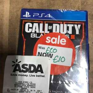 Call of duty black ops 3 PS4 £10 Asda Seaham