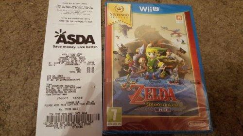 Zelda the Windwaker HD WiiU  £10 Asda
