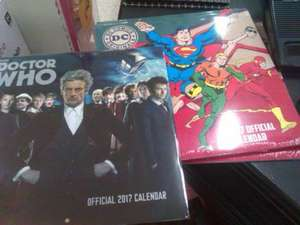 2017 Calender's Superman / Dr Who, maybe other super hero's 20p @ Wilko