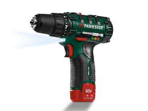 PARKSIDE 12V Li-Ion Cordless Drill from LIDL £24.99.