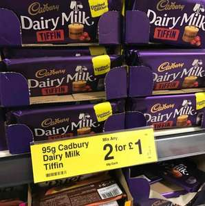 Cadbury Dairy Milk Tiffin 90g 2 for £1 instore @ Farmfoods