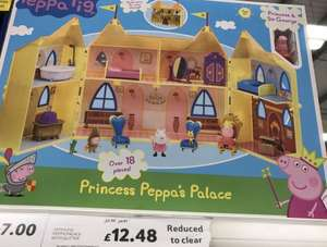 Peppa Pig Palace with Glitter £12.48 Instore @ Tesco