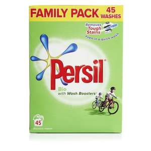 Persil bio laundry powder, 45 washes 3.185kg £5.50 at Waitrose