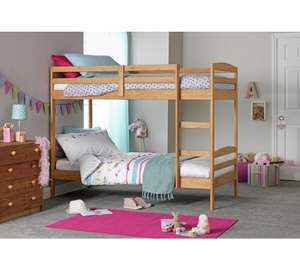 Josie Single Bunk Bed Frame Natural - £102.94 Argos