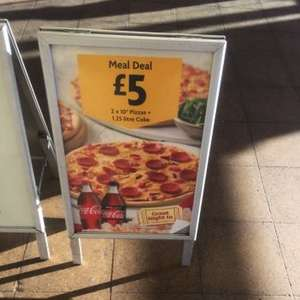 """Morrisons 2x10"""" pizza and 1.25L drink £5 Deal"""