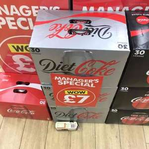 """30 Cans of Diet/Regular/Zero Coke for £7 in Poundworld as """"Managers Special"""""""