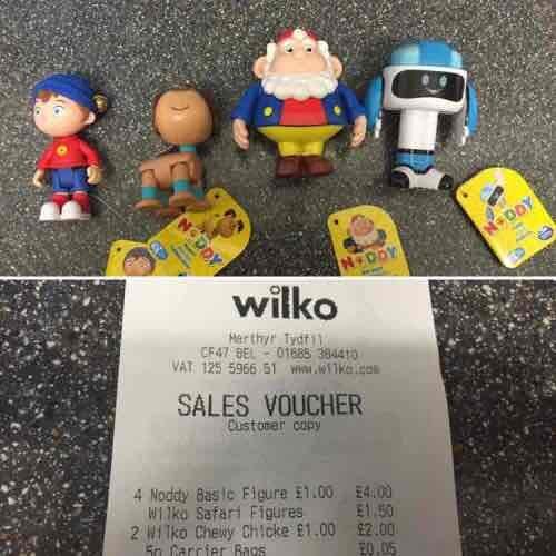 Noddy Toy Figures £1 @ Wilko instore