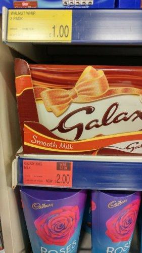 Galaxy 390g large chocolate bar £2.00 at B and M stores