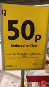 lindt xmas chocolate figures 50p @ Morrisons - Coventry Road in Birmingham