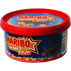 Haribo Share The Fun 720g Sharing tub £1.50 instore at Tesco Edinburg Way Harlow.