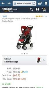 Hauck shopper shop 'n drive travel system. Amazon lighting deal