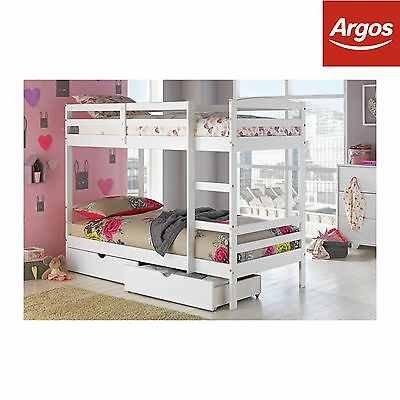 Bunk Bed in White £263.99 Shipping £6.95 @ Argos eBay - £270.94