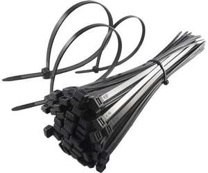 200 BLACK CABLE TIES, 4.8mm x 300mm PLUS A PACK OF 2.5 x 100 BLACK TIES £1.99 delivered fast & free (sold by massiveattack007)