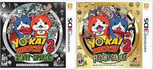 Pre order Yo-Kai Watch 2: Bony spirits or Fleshy Souls @ simply games £29.85 Free p+p