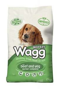 Wagg Dry Dog Food Beef/Chicken and Veg - 17kg - £9 - Amazon Prime Exclusive