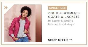 £10 off jackets & coats with Sparks - e.g. fleece jacket now £5 @ M&S