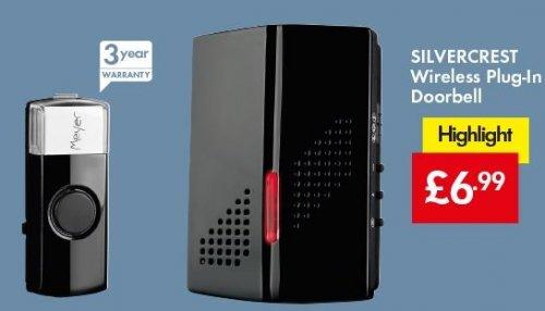 Wireless PLUG-IN Doorbell £6.99 LIDL (Silvercrest) - 3 Year Warranty