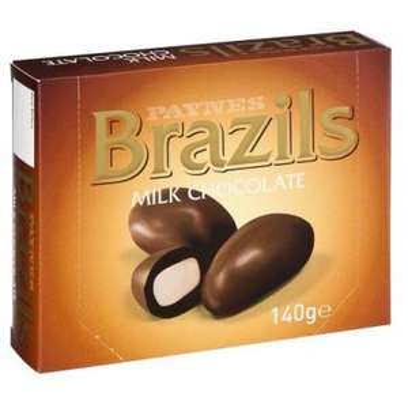 Paynes Milk Chocolate Brazils 140g ONLY £1.00 @ Poundland