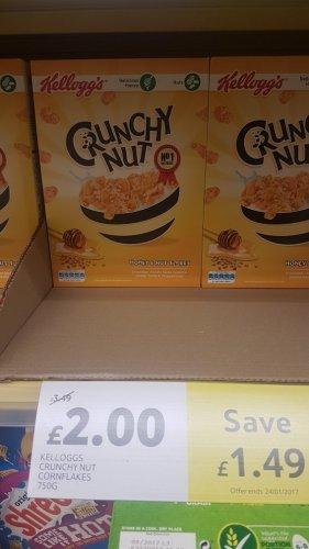Crunchy Nut Cereal £2.00 750g Tesco Instore