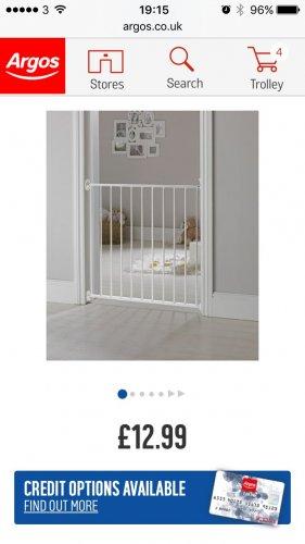 Baby start stair gate argos